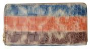 New Multicolor Croco Design Women's Zip Around Wristlet Clutch Wallet