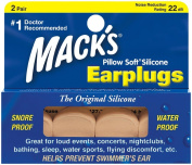 Mack's Pillow Soft Silicone Earplugs - Beige -2 pair, 2 pk