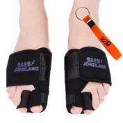 UZZO™Unisex Foot Pain Relief Corrector Big Toe Bunion Protectors Toe Separators Straighters Spreaders Correctors Splint Hallux Valgus Foot Pain Relief Corrector-1Pair for Left and Right foot WIth 1Free UZZO Logo Keyring