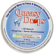 Three Lollies Queasy Drops Assorted for Nausea Relief, 21 Count