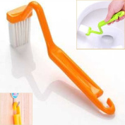 V Shaped Toilet Brush Curved Handle Cleaning Brush - Random Colour by TJSpecial