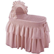 Baby Doll Paradise Rainbow Bassinet Bedding Set, Pink