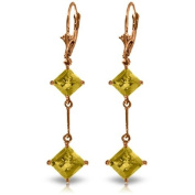 3.75 CT. 14K Rose Gold Leverback Earrings with Citrines