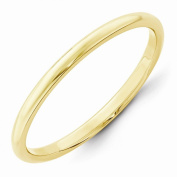 Top 10 Jewellery Gift 10KY 2mm Half Round Band Size 11.5