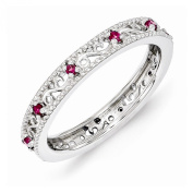 Best Designer Jewellery Sterling Silver Stackable Expressions Created Ruby Ring