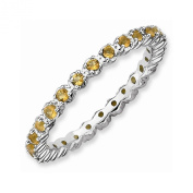 Best Designer Jewellery Sterling Silver Stackable Expressions Citrine Ring