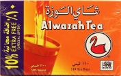 Alwazah Tea, 100% Pure Ceylon, 110-bags Pack of 2- Total of 220 Tea Bags