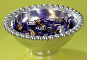 15cm Aluminium Imperial Beaded Round Bowl by KINDWER