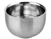 AEXGE Small Stainless Steel Durable Heat Insulation Shave Shaving Soap Cup Mug Bowl for Men