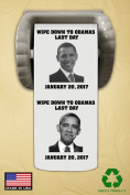 OBAMAS LAST DAY-JANUARY 20, 2017 -FUNNY TOILET PAPER-MADE IN THE USA!!