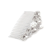 Bridal Wedding Jewellery Crystal Rhinestone Pearl Beautiful Vintage Hair Comb Pin