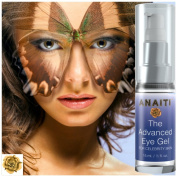 Anaiti Advanced Eye Gel - Anti-Ageing Eye Cream | Reduce Dark Circles Under Eyes | Smooth Away Puffy Eyes | Remove Wrinkles And Fine Lines | Remove Eye Bags | Add The Best Wrinkle Cream For Eyes To Your Beauty Products For Smooth Skin | Anti-Wrinkle Cr ..