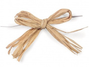 12 Natural 10cm Pre-tied Raffia Bows with 15cm Twist Ties Gift Bags Basket Wrap