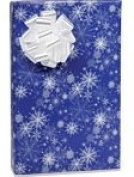 SNOWY NIGHT SNOWFLAKE Christmas Holiday Gift Wrap Paper - 4.9m Roll