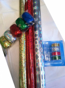 Holographic Gift Wrap Set ~ Paper / Tape / Ribbon