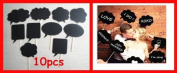 Set of 10pcs Wedding or Engagement Photo Booth Signs Photobooth Props Speech Bubbles on a Stick Bridal Shower Party Decoration