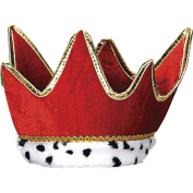 Plush Royal Crown (red) Party Accessory (1 count)
