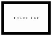 Hortense B. Hewitt 50 Count Tuxedo Black Thank You Note Cards