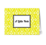 Modern Floral Damask 'A Little Note' Limello - 24 Cards for $7.49 - Blank Cards w/ Grey Envelopes Included