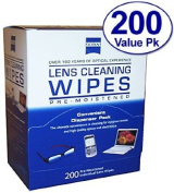Zeiss Pre-Moistened Lens Cloths Wipes 200c
