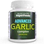 Advanced Garlic Complex - Quality SuperFoods (100ct) Maximum strength Complex contains a blend of Odourless Garlic (allium sativum), Parsley (petroselinum crispum), and Chlorophyll.