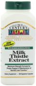 21st Century Standardised Herbal Extract Capsules, Milk Thistle Extract, Maximum Strength, 200-Count Bottles