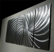 Wow Silver - 160cm x 60cm Abstract Painting Metal Wall Art sculpture for contemporary decor Sculpture by Nider the Internationally Acclaimed Artist of Modern Contemporary Decor