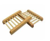SoooKu New Arrival Pack Of 2 Unpolished Wooden Dowel Soap Dishes Holder Racks