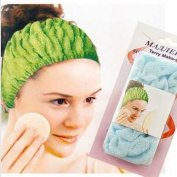 Brownylife Shop - Stretch Cotton Beauty Makeup Shower Wash Face Case Hairdressing Hairdo Headband Wide Hair Band