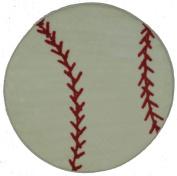 Fun Shapes High Pile Baseball Sports Rug Size