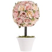 Sweet Potato Rosebud Topiary Gift Set, Pink