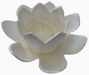 JED Pool Tools 90-807-W Floating Lotus Candle Holder, White