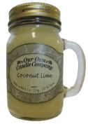 380ml COCONUT LIME Scented Jar Candle (Our Own Candle Company Brand) Made in USA - 100 hr burn time