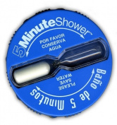 Shower Clock Timer, Five Minute Shorter Shower & Save | Baño de 5 Minutos