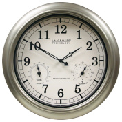 La Crosse Technology WT-3181PL-INT 46cm Atomic Outdoor Clock with Temperature & Humidity