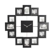 VonHaus 12 Picture Aluminium Photo Frame Clock