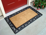 Kempf Inlaid Scroll Coco Doormat, 24 by 100cm by 1.3cm