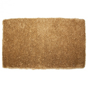 J & M Home Fashions Plain Brush Beech Coco Doormat, 60cm by 90cm