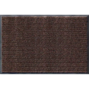 Apache Mills 01-033-1410 Rib Commercial Carpeted Indoor and Outdoor Floor Mat, Cocoa Brown, 0.6m by 0.9m