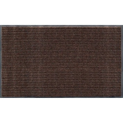 Apache Mills 01-033-1410 Rib Commercial Carpeted Indoor and Outdoor Floor Mat, Cocoa Brown, 0.9m by 1.5m