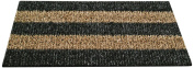Clean Machine Patio Stripe Doormat, 46cm by 80cm , Root Beer