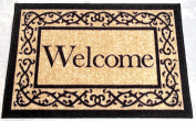 Ottohome Collection Beige 50cm x 80cm Machine-Washable Non-Slip Welcome Mat Doormat Rug 50cm by 80cm