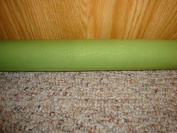 Door Draught Stopper Filled with Fragrant Balsam Moss Green Colour