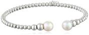 Majorica Pearl and Steel Bead Cuff Bracelet