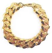 Tendenze Italy Heavy Curb Chain Bracelet, 18K Gold Plated, Width 16.5mm, Directly From The Italian Factory