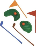Oasis Supply 6-Piece Golf Green with Clubs and Flag set Cake Decorator
