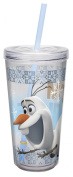 "Zak Designs FZND-M730 Disney's Frozen ""Olaf"" Tumbler with Straw, 470ml"