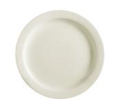 CAC China NRC-7 Narrow Rim 18cm American White Stoneware Plate, Box of 36