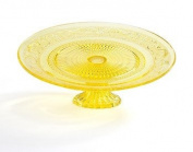Footed Yellow Cake Plate