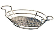 American Metalcraft BSKC118 Wire Baskets with Built In Ramekin Holders, Oval, Chrome